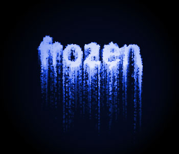 Photoshop Tutorial - Frozen Ice Text